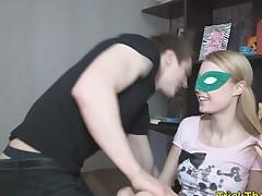 blindfolded punishment